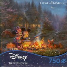 Thomas Kinkade Ceaco Jigsaw Puzzle Mickey and Minnie Sweetheart Campfire NIB