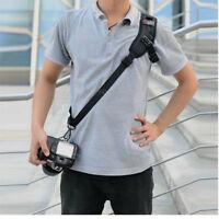 USA Quick Rapid Shoulder Sling Belt Neck Strap For Camera DSLR SLR Black
