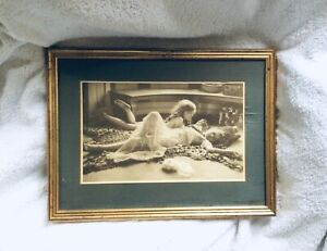 "Vtg Framed Sepia Bromide Print MOTHER'S JEWELS JBB Wellington 1917 20"" x 15"""
