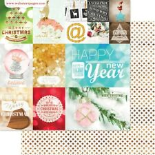 Websters page 12x12 Scrapbooking paper All that Glitter, Holiday Cheer x 2 sheet
