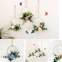 Gold Floral Hanging Hoops Wedding Venue Engagement Birthday Party Decor