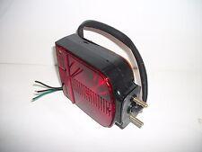 NOS Signal-Stat RH Red/Yellow Horizontal Mount Dual Face Turn Signal Lamp 4702