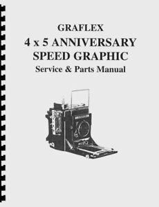 Graflex 4x5 Anniversary Speed Graphic Service & Repair Manual Photocopy