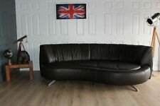 Designer DE SEDE DS164 brown leather sofa RRP £12 000 when new current model