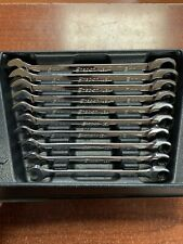Snap On Oxrm710 10 Piece 0 Offset Comb Metric Ratcheting Wrench Set 10mm 19mm