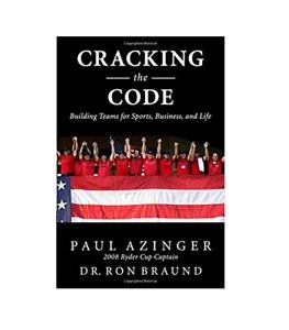 Autographed Cracking the Code by Dr. Ron & Paul Azinger Signed by Paul Golf Book