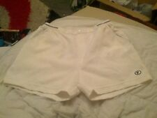 Mens Vtg TENNIS shorts Fancy dress party stag Retro 1980s XL white fc