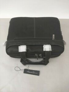 "Kenneth Cole ""Take The Op-Port-Unity"" Black Leather 15"" Laptop Briefcase *READ*"