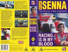 MOTOR SPORT AYRTON SENNA  RACING IS IN MY BLOOD  A RARE FIND  VIDEO  PAL VHS