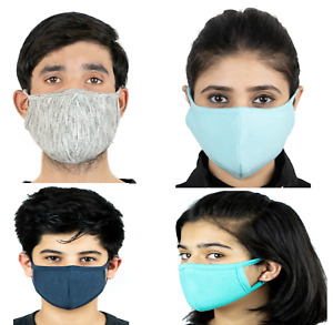Breathable Reusable Washable Protection 100% Cotton Face Mask Multi Pack Box