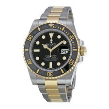 Rolex Submariner Black Dial 18K YellowGold Oyster Automatic Mens Watch 116613BKS