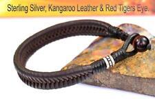Tiger's Eye Sterling Silver Bracelets for Men