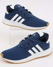 adidas X PLR Trainers in Navy Blue & White - lightweight runners 3 stripes