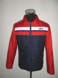 vintage 80s ELHO Nylon Jacke glanz ski anorak oldschool retro 80er Jahre Gr.50 M