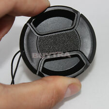46mm Center Pinch Snap on Front Cap For Sony Canon Nikon Lens Filter BlackCAFF
