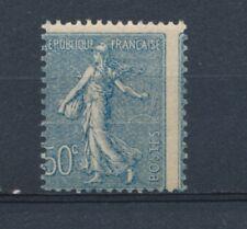 France N°161 50c bleu Piquage à cheval N** signé Calves N2288