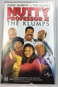 The Nuttie Professor II Eddie Murphy VHS Video Cassette Tape PAL Big Box M15+
