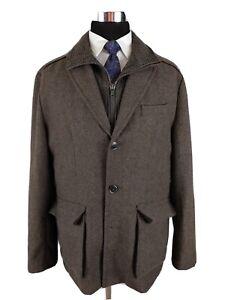 Jos. A. Bank Men's Heavy Wool Twill Tweed Sport Coat Jacket Norfolk Hunting XL