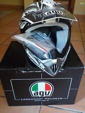 casque AGV  MT-X junior E2205 modèle 3XS tour de tête 49 / 50 cm blanc gris