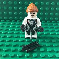 LEGO Black Widow White Jumpsuit Minifigure sh571 Marvel Avengers Endgame 76144