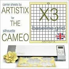 "12""x12"" Value cutting mat x3 Pack full grid for Silhouette Cameo Carrier sheets"