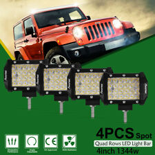 4pcs 4inch 1344W CREE LED Work Light Bar 4WD Offroad Spot Fog ATV SUV PK 36W 5""