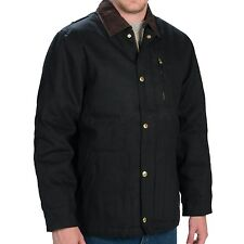 NWT DICKIES Black Rigid Cotton Duck Quilt Lined Chore Jacket Coat Size 3XL