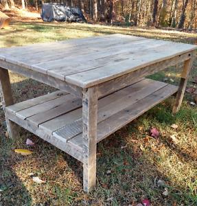 Handmade Pallet Wood- Coffee Table - Vintage, Rustic Look ***UNFINISHED***