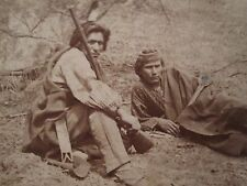 1880s BIG BEAR MACONUGAH WINNEBAGO INDIANS WI RIFLE WARRIORS STEREOVIEW PHOTO