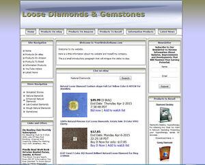 DIAMOND JEWELRY STORE - Work-at-Home Affiliate Website - Amazon+Google+Dropship
