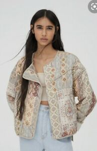 Pull and bear Aztec Quilted Jacket M