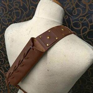 Medieval Knight Sword Scabbard Holder Holster Belt Hunter Costume Cosplay Prop