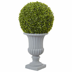 Boxwood Topiary w/ Urn Realistic Artificial Plant Nearly Natural 2.5' Home Decor