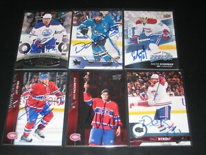 """MAX PACIORETTY autographed '15/16 MONTREAL CANADIENS """"Upper Deck"""" card w/ TORCH!"""