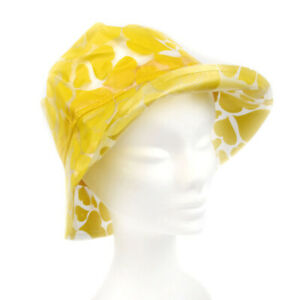 Women ladies bucket waterproof hat yellow hearts VIVIENNE WESTWOOD 0685