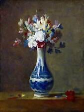 PAINTING STILL LIFE CHARDIN VASE FLOWERS ART PRINT POSTER HP1817