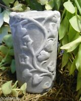 Latex leafy small candle holder pedestal mold plaster cement mould