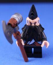 LEGO® HOBBIT™ EREBOR Custom DWALIN DWARF WARRIOR Minifigure + MOHAWK & Battleaxe