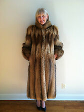 Tanuki Racoon Fur Coat Revillon Saks 5th Avenue New York 1982 Dress Full Length