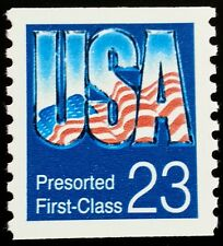 1992 23c  U.S.A. Pre-sorted 1st Class, Coil Scott 2607 Mint F/VF NH