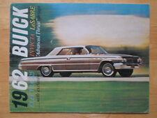 BUICK 1962 Electra 225 Invicta & LeSabre orig USA Mkt Sales Brochure