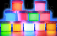 Neon UV Black Light Acrylic Fluorescent Paint in 10 1/2oz POTS, ART, GRAFFITI.