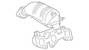 Genuine Toyota Exhaust Manifold 17140-0P090