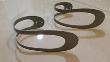 IKEA 2pc Set RIKTIG  CURTAIN TIE BACK Metal DRAPERY HOLDER