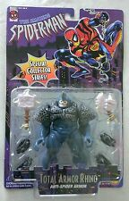 THE AMAZING SPIDER-MAN TOTAL ARMOR RHINO MARVEL COMICS TOY BIZ 1996