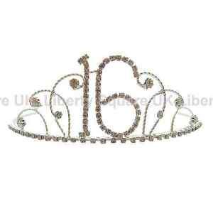 Silver Diamante 16th Birthday Tiara / 16th Birthday Gift / Sweet 16th Tiara #687