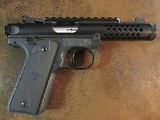 Black Textured Rubber Grip Enhancements for the Ruger Mark IV 22/45