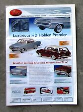 TRAX CATALOGUE 2007 Brochure 1/43 DieCast HD PREMIER HK MONARO XY GTHO V8 FALCON