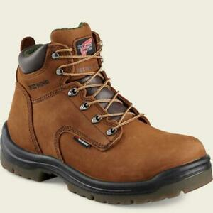 "Red Wing King Toe 6"" Waterproof Non Metallic Safety Toe Boots 2240 Hazelnut"