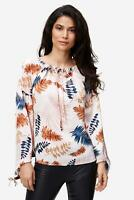 NÜ DENMARK - Bluse Damen Carmen-Ausschnitt Blumen-Print elegant rosa NEU: 79 €